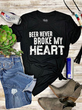 Never Broke My Heart Vintage Black Tee