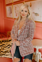 Clueless Sequin Plaid Blazer - Pink