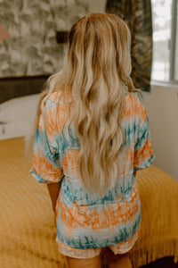 Morning Sunrise Tie Dye Pajama Set
