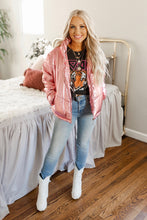 Metallic Pink Puffer Jacket