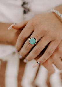 Dime Store Cowgirl Natural Turquoise & Sterling Silver Ring