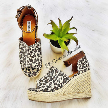 Not Rated Leif Leopard Espadrille Wedge