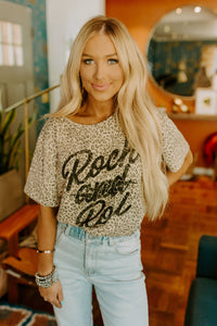 Rock & Roll Leopard Print Top