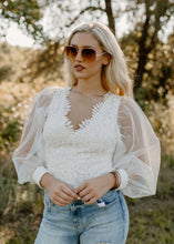 Out On The Town White Lace Top