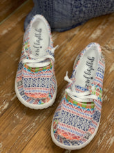 Gypsy Jazz Chaska WHITE Aztec Canvas Sneaker