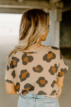 Taupe Leopard Waffle Top