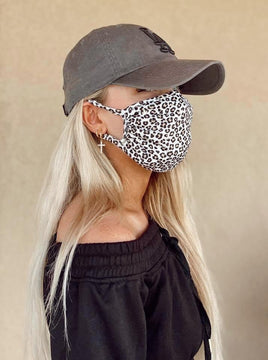 Snow Leopard Rayon Double Lined Mask