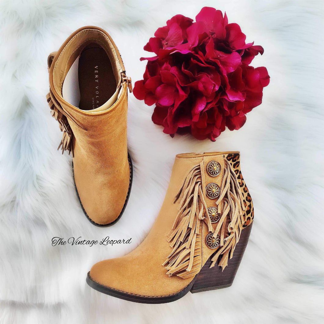 Very Volatile Leopard Shindig Leather Booties