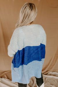 Covered In Cozy Royal Blue Stripe Cardigan