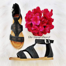 Load image into Gallery viewer, Corky's Calista Black Sandals