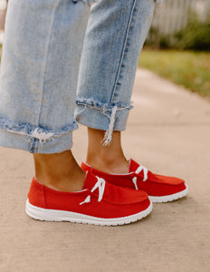 Gypsy Jazz Gameday Red Canvas Sneaker
