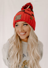 Bianca Buffalo Plaid & SOFT Sherpa Upcycled Pom CC Beanie