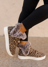 Very G Plush Leopard Fur Sneakers