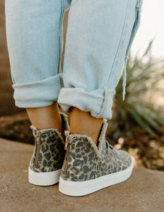 Very G Josie Ruched Leopard Sneakers