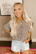 Hollie Cheetah Ruffle Sleeve Top