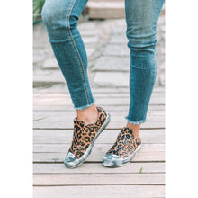 Leather Leopard Shalomar Slip On Sneakers