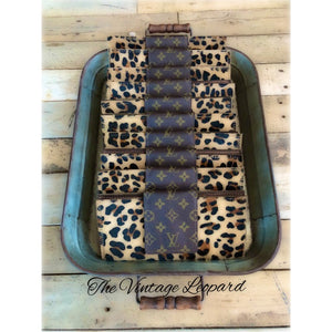 Upcycled Louis Vuitton Hair on Hide Leather Leopard Large Wallet