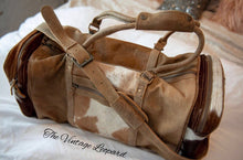 Myra Cowhide Leather Cinnamon Traveler Duffle Bag