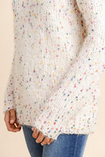 Rainbow Dot Ivory Comfy Knit Sweater