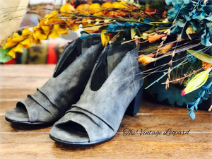 Janice Slouchy Grey Open Top Booties