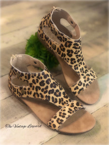 Corky's Jayde Leather Leopard Sandals