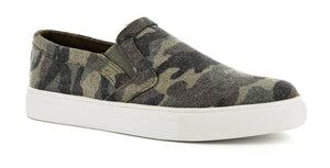 Corky's Jungle Camo Slip on Sneaker Shoe