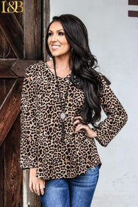 Leopard Pocket Top Sweater
