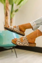 Luna Leopard Buckle Slide Sandals