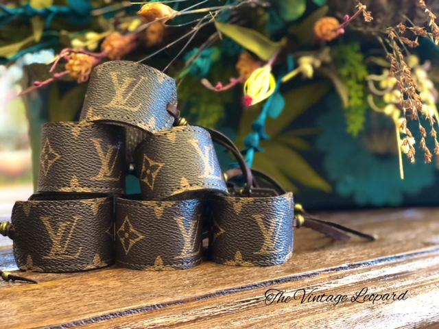 Upcycled LV & Leather Cinch Cuff Bracelet