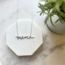 Load image into Gallery viewer, Brushed Silver Mama Necklace