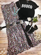 Long Multi Sequin Maxi Skirt