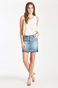 Dear John Naomi Bric Denim Mini Skirt