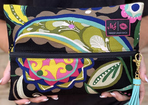 Makeup Junkie Paisley Floral Luxury Line Designer Make Up Bags