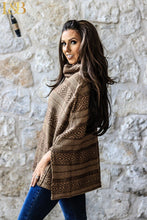 Mocha Turtleneck Poncho