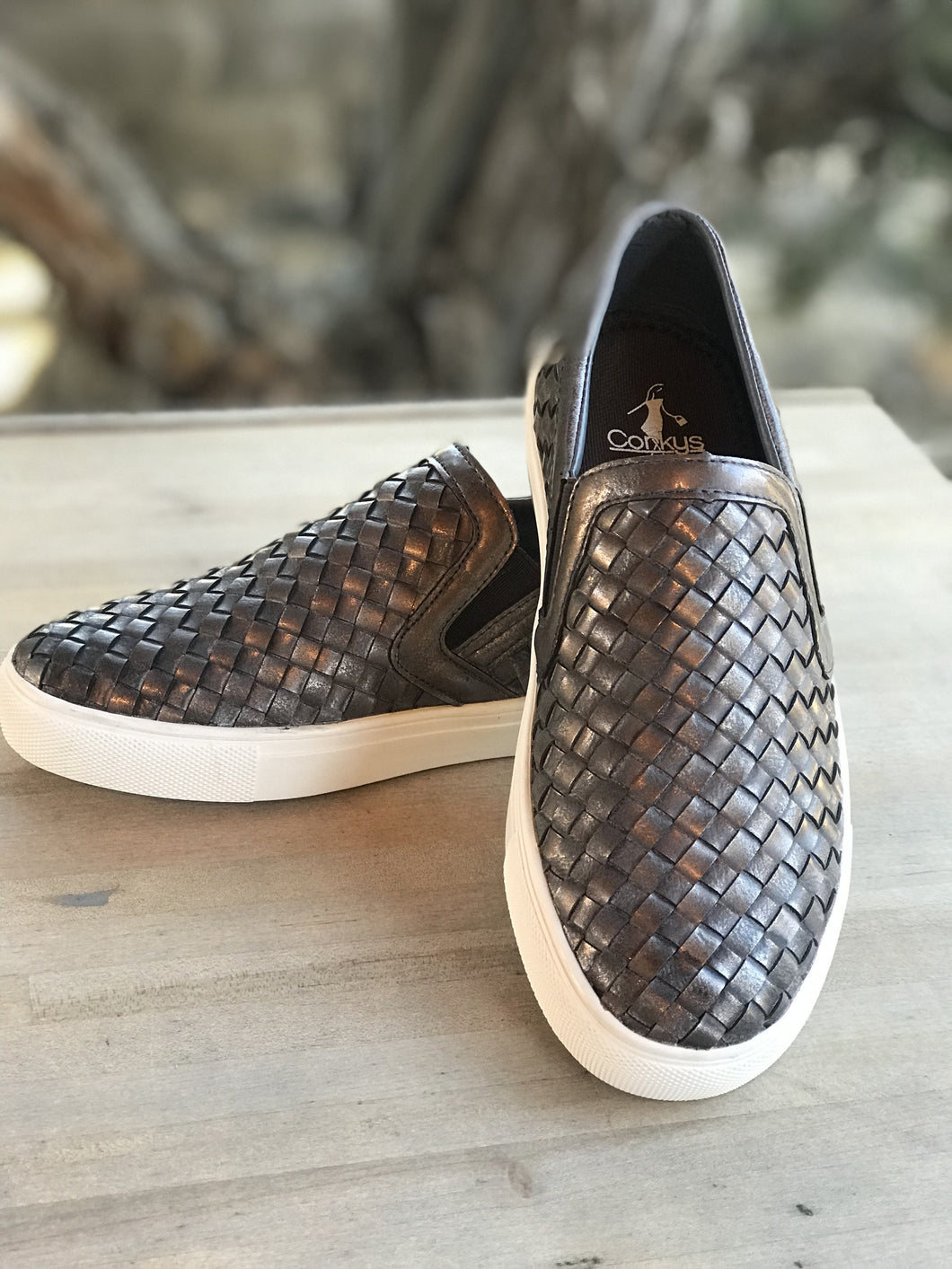 Corky's Powder Brushed Bronze Slip on Sneaker Shoe