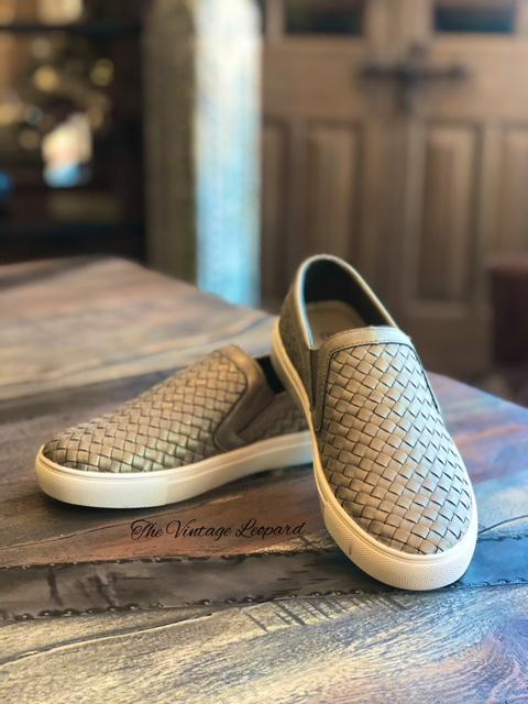 Corky's Powder Brushed Gold Slip on Sneaker Shoe