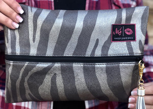 Makeup Junkie Safari Silver Luxury Line Designer Make Up Bags