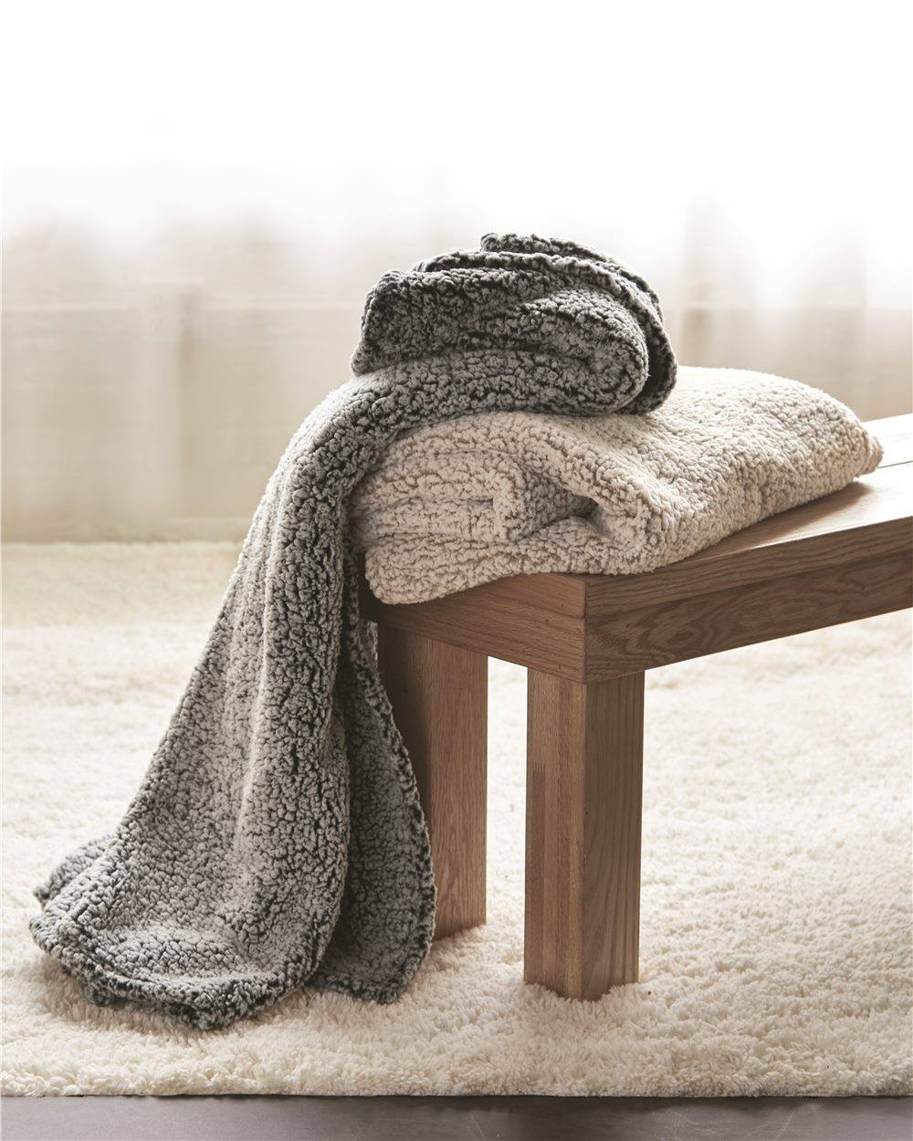 Oversized Super Soft Sherpa Throw Blanket