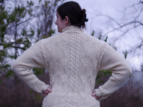 January Aran - Back View