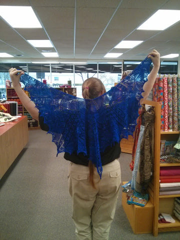 Sarah and her beautiful shawl