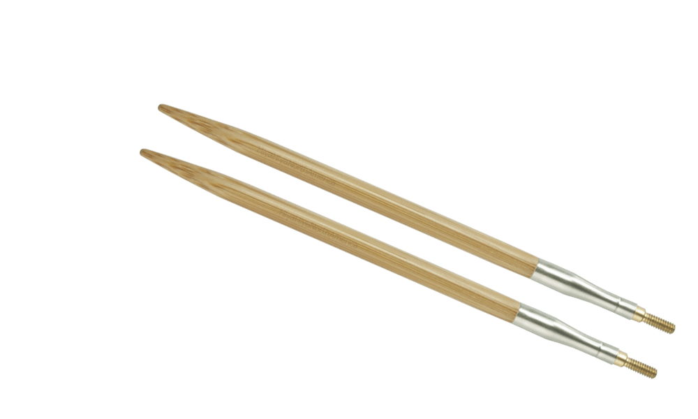 HiyaHiya Interchangeable Bamboo Knitting Needle Tips - 4""