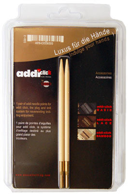 addi Click Bamboo Interchangeable Knitting Needle Tips