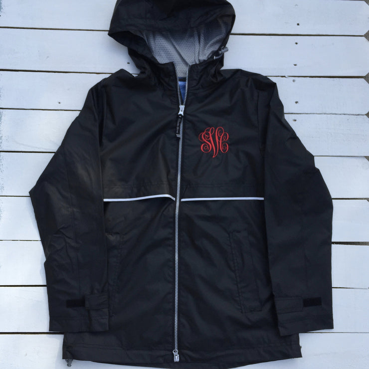 Monogrammed Full Zip Rain Jacket - Ladies