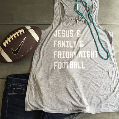 Jesus & Family & Friday Night Football Tank