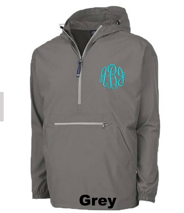 Monogrammed Lightweight Packable Pullover - Adult - 16 Color Choices