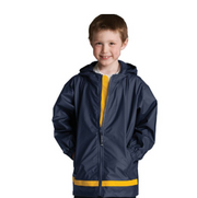 Monogrammed Full Zip Rain Jacket - Youth
