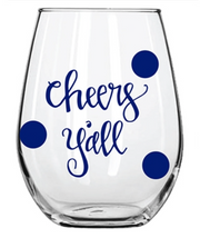 Holiday Acrylic Wine Glass - Several Designs