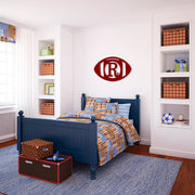 Football Single Initial Wood Wall Decor