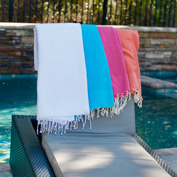 Honeycomb Weeve Turkish Towels - 4 Colors Options