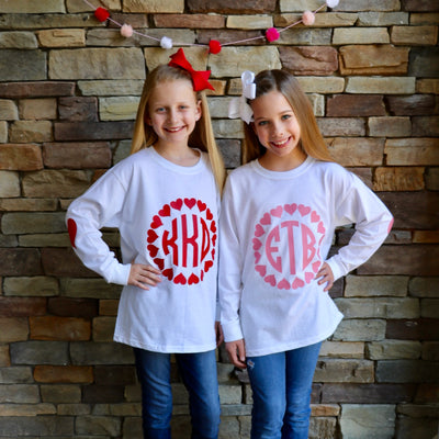 Circle of Hearts Monogram Shirt